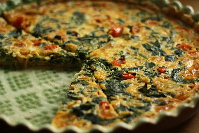 U nás na kopečku: Špenátový quiche