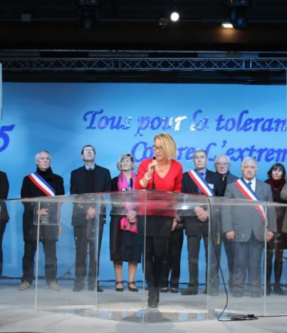 French mayors in solidarity gathering in  Paris, organized by the Iranian Resistance in solidarity with French people against Islamic fundamentalism, and Iranian terrorist government.