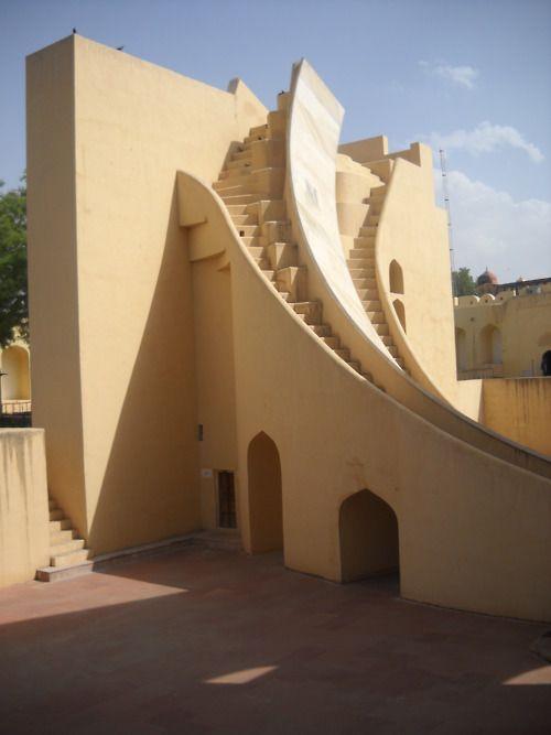 Jantar Matar Observatory in Jaipur, Rajasthan. beautiful lines.