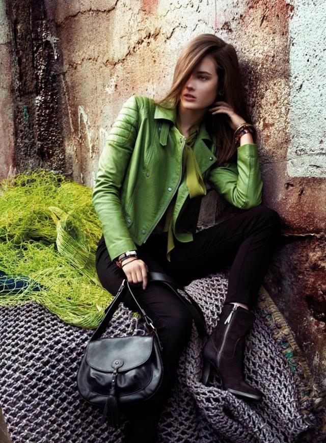 Hugo Boss Orange Fall 2012 Campaign Green leather