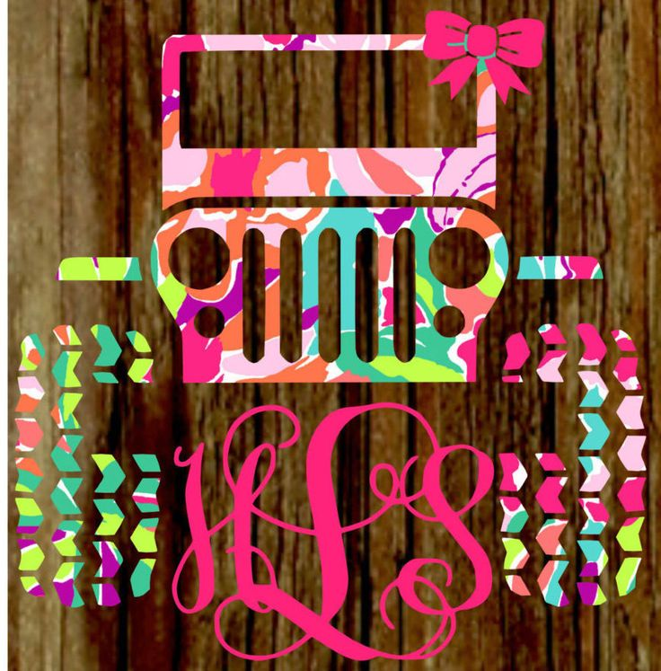 Lilly Pulitzer jeep decal / Lilly Pulitzer monogram decal / Monogram jeep decal / Monogram decal / Car decal / Lilly Pulitzer decal by bayoumonogram on Etsy https://www.etsy.com/listing/292704787/lilly-pulitzer-jeep-decal-lilly-pulitzer