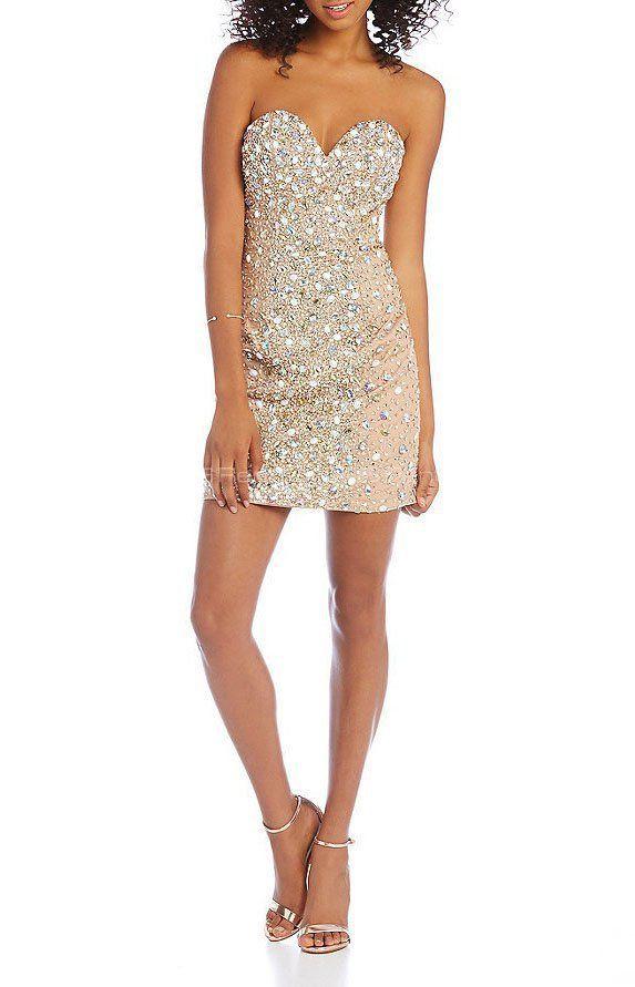 Платье - Terani Couture   Biege Cryslal Dress