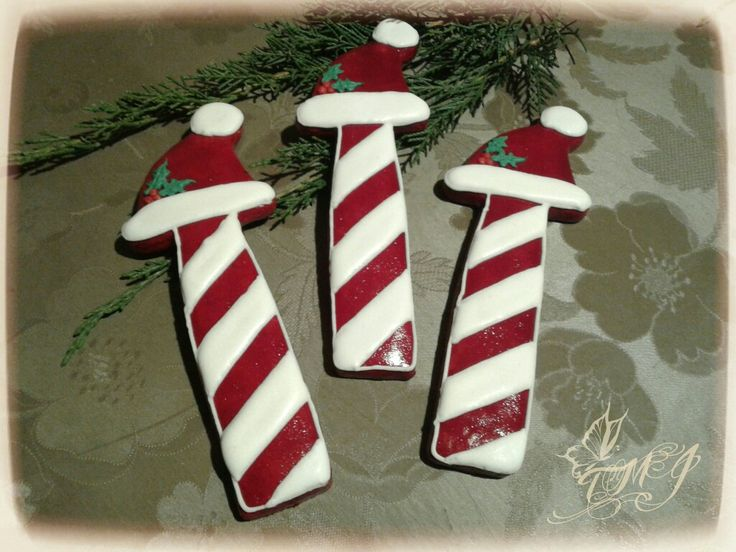Christmas gingerbread cookie Santa's hat by TMJcreative. #TMJcreative