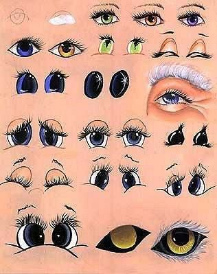 how to paint draw eyes doll mouth an excellent page for easy cute animal & human faces with various expressions a must for all crafty crafters. Lots of examples