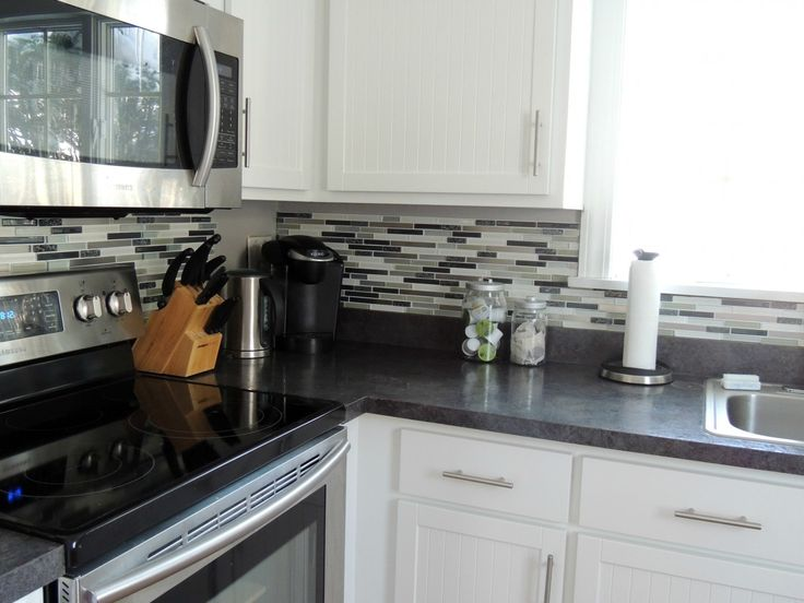 peel and stick backsplash real glass tile