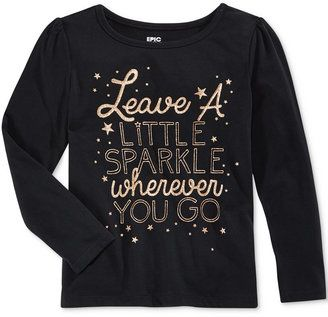 Epic Threads Little Girls' Mix and Match Sparkle Graphic-Print Long-Sleeve T-Shirt, Only at Macy's