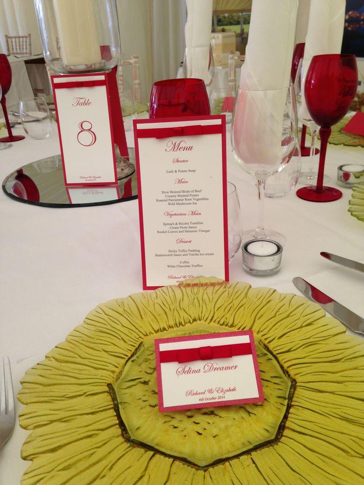 赤がテーマカラーの結婚式にしたい♡赤いメニュー表のまとめ一覧です♡