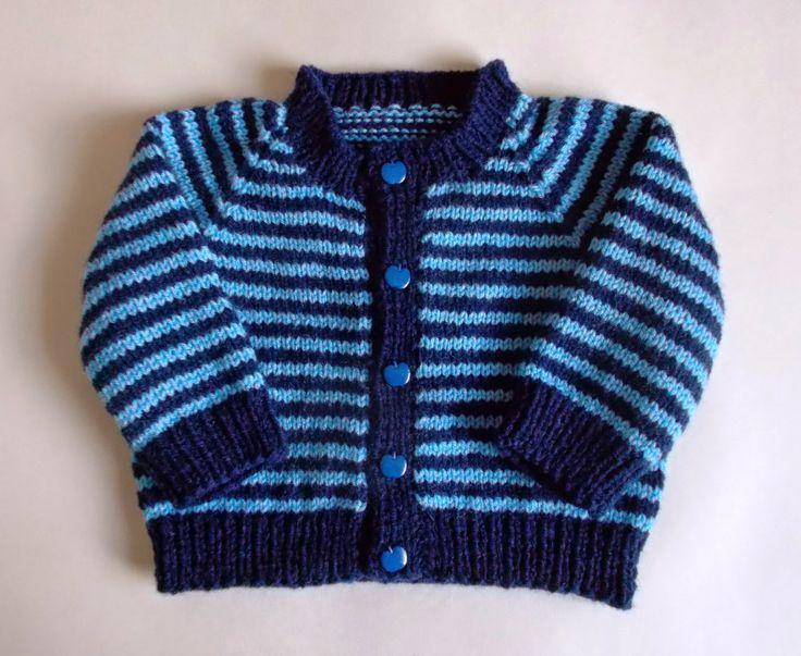 marianna's lazy daisy days: Sporty Simple Stripe Baby Cardigan
