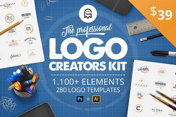 The Professional Logo Creators Kit by Graphic Ghost on @creativemarket #graphicghost #professional #logo #creators #kit #creation #create #pro #ultimate #best #bundle #set #vintage #retro #calligraphy #lettering #letters #logodesign #logos #monogram #brand #branding #template #templates #minimal #tool #tools #badge #label #tag #typography #clean #feminine #textures #watercolor #patterns #artists #hand #drawn #handmade #design #designer #graphics #graphicdesign #ai #psd #adobe #photoshop…