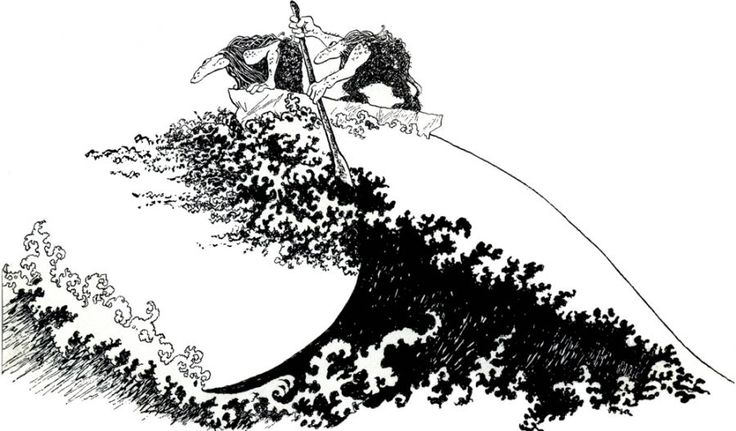 Illustrasjon: Thore Hansen Fra: ODIN den einøygde av Anders Havnelid
