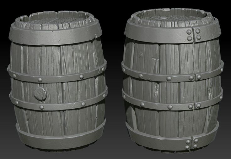 Barrels on Zbrush by ganooon on DeviantArt