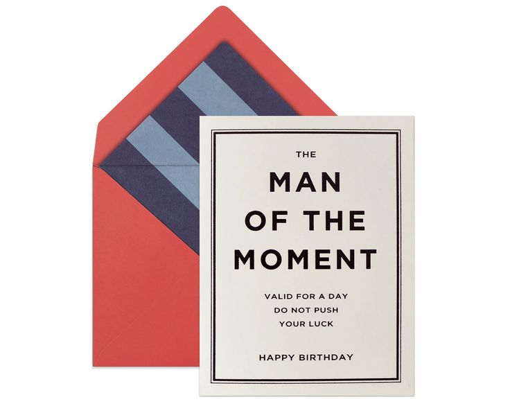 "BIRTHDAY CARD FOR HIM ""Man of The Moment"" 