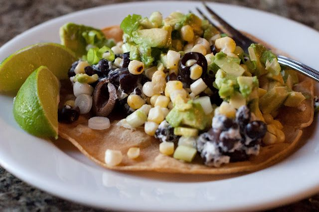 Black Bean and Goat Cheese Taco | yum | Pinterest