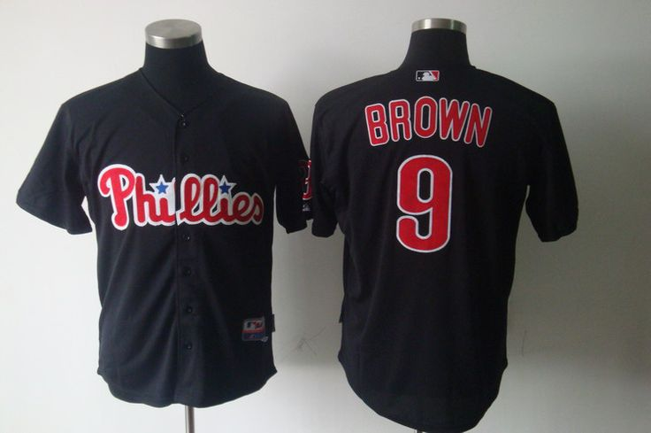 Cheap Mens Philadelphia Phillies Jersey #9 Domonic Brown Black Baseball Jersey,embroidered Logo,accept retail mixed order  //Price: $US $26.00 & FREE Shipping //    #sport #gamer #ball #boating #golf #football #Accessories