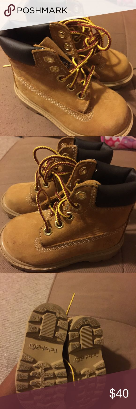 Toddler timberland construct boots Worn a few times as u can see in the front but you can clean them with special timberland boot spray . Cute for fall winter and spring season . Timberland Shoes Boots