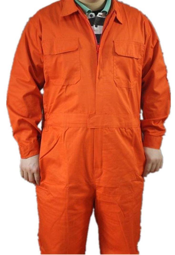 amazon com xinandy long sleeves orange men s work on dickies coveralls id=74681