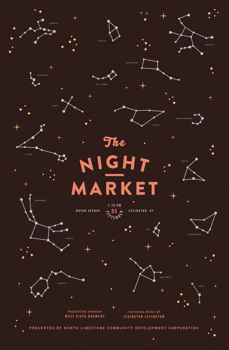 Parts of a poster design - Women Of Graphic Design Mary Galloway Brooklyn Night Market Poster Series