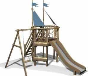 Деревянная детская площадка Classic 3 ( 6-14 лет )
