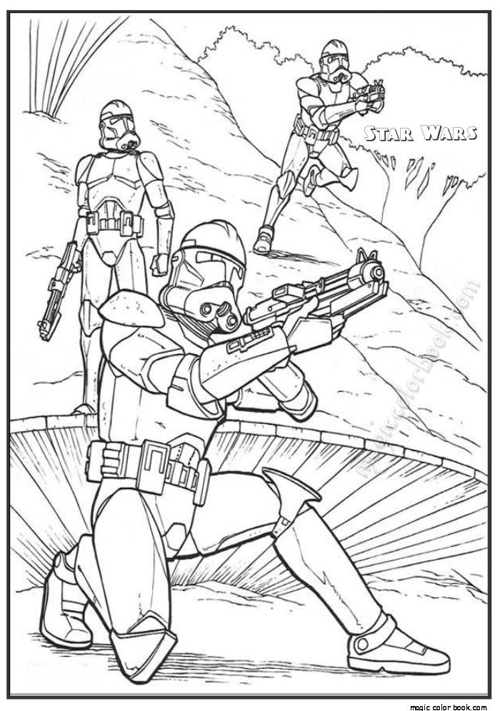Pin By Magic Color Book On Star Wars Coloring Pages Free Online