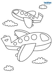 printable aeroplane coloring page for kids - Kid Color Pages