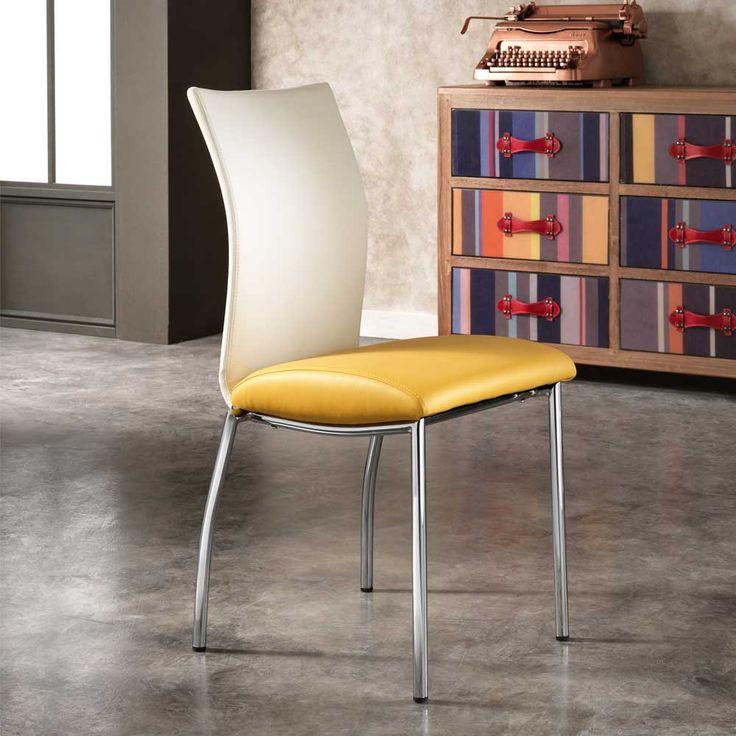 Die besten 25+ gelbe Essstuhl Ideen auf Pinterest Küchenstühle - Esszimmer Modern Weiss