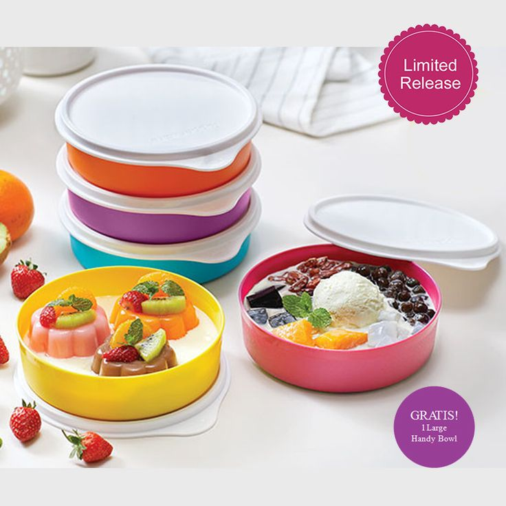 Promo Tupperware April 2018, Tupperware Large Handy Bowl with Gift