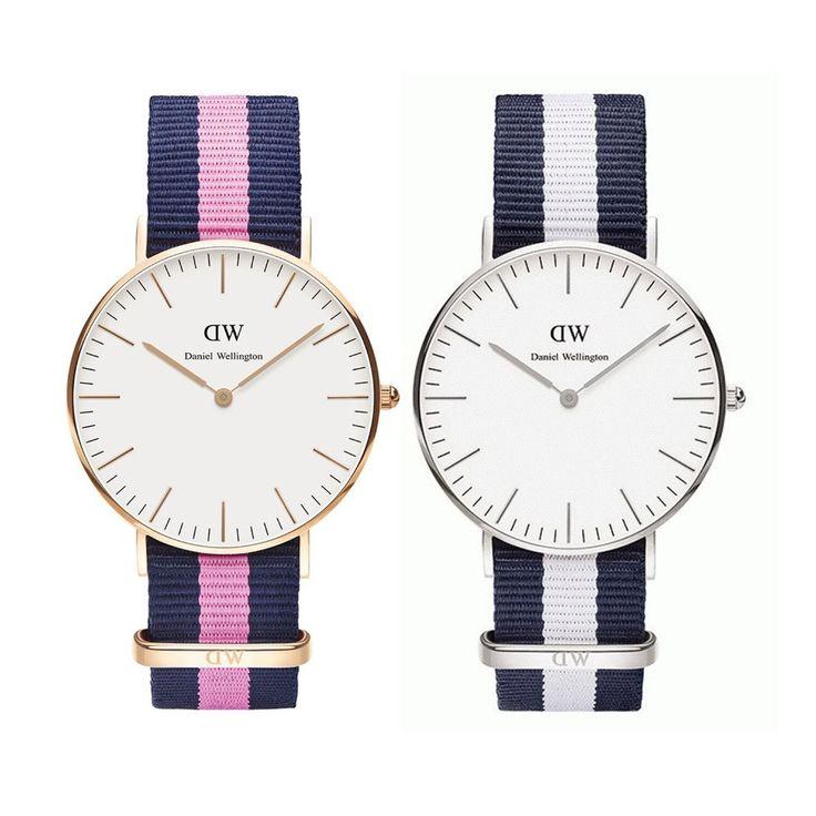 2015 Daniel Wellington Casual Watch DW All Model Women Men Silver Rose Gold  Nylon Leather Strap Quartz Wristwatches Gift Watch