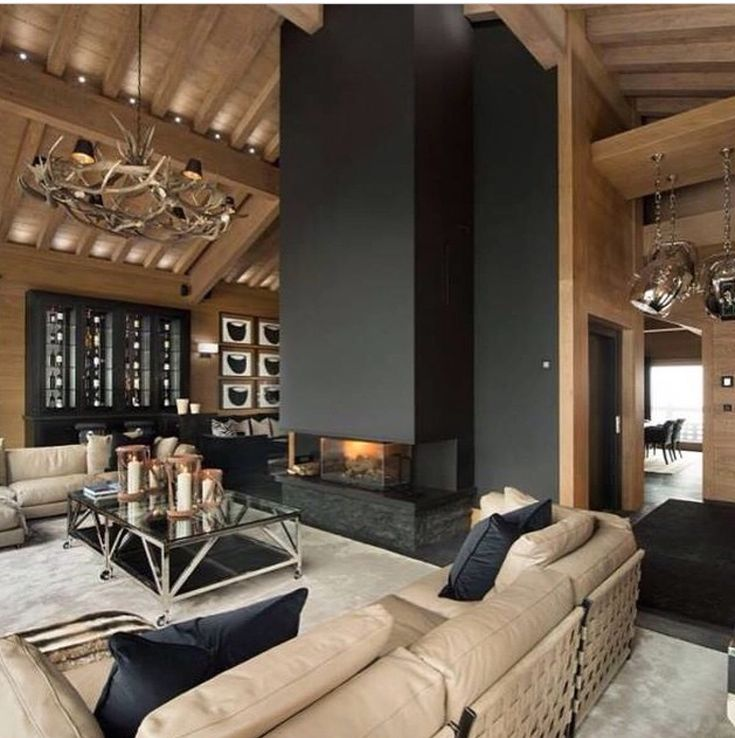 This is a 'modern mountain fireplace'!!!