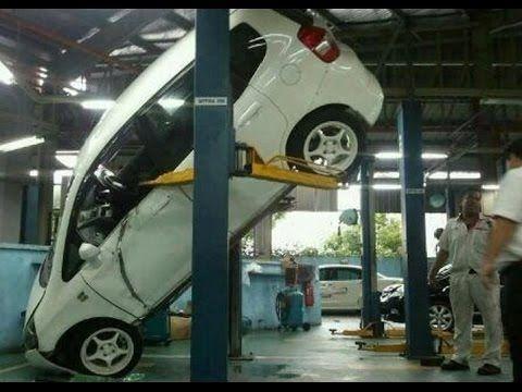 #Top10 best car hoist #fails on #YouTube VIDEO - YOU WONT BELIEVE! #workshop #fun