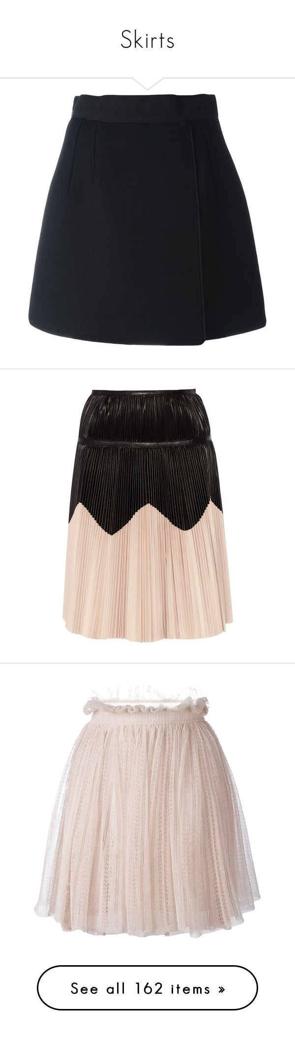 """Skirts"" by lavwichi ❤ liked on Polyvore featuring skirts, black, high waisted short skirts, high-waist skirt, high waisted a line skirt, a line mini skirt, high rise skirts, alexander mcqueen skirt, pleated skirt and structured skirt"