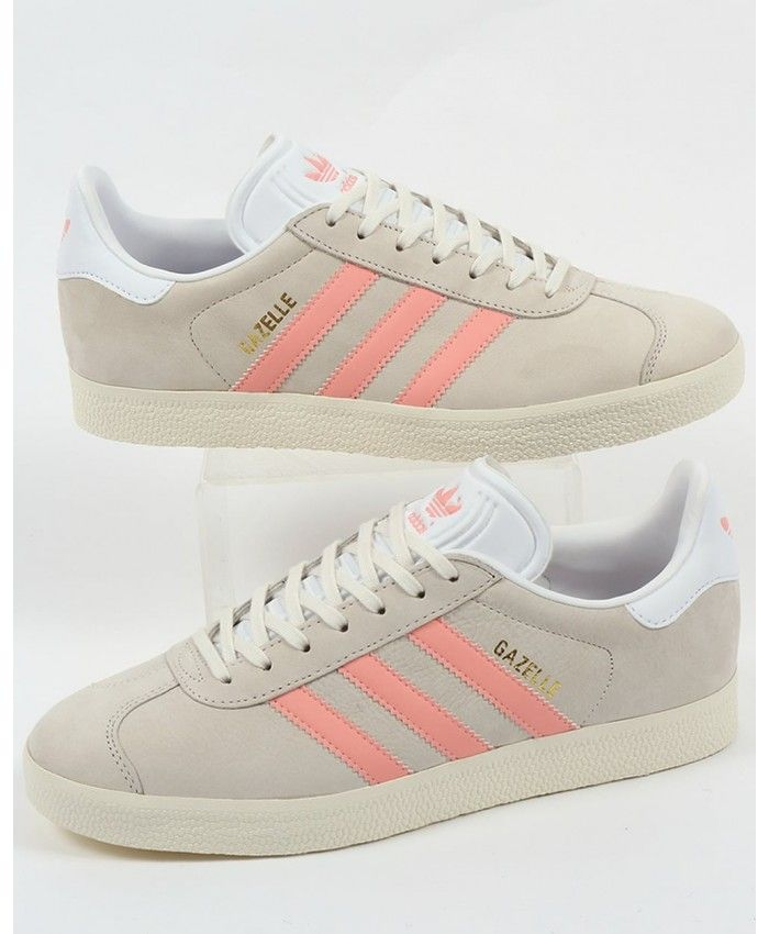 hot sale online 3565b 791e3 Adidas Gazelle Chalk White Light Pink Trainer