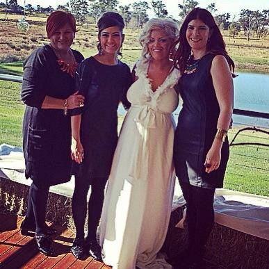 Beautiful bride Cara Simmons and all her girlfriends show off their LAMBERT pieces! Yes, all of them!!