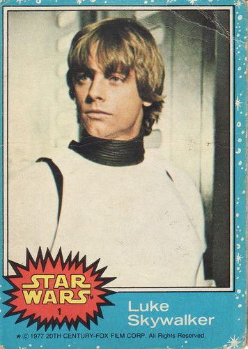 1977 Topps Star Wars Card Blue Series #1 Luke Skywalker