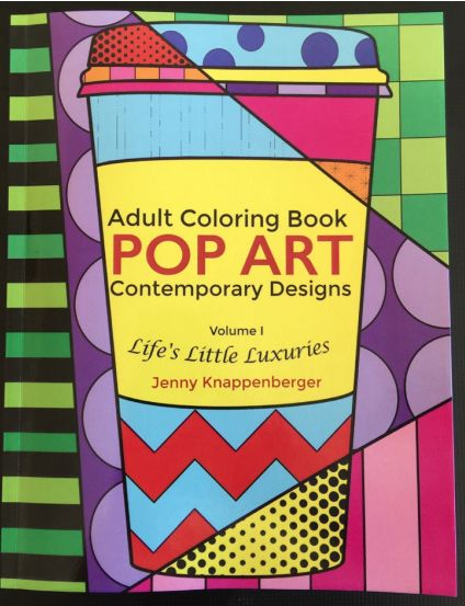 Pop Art Adult Coloring Book. An adult coloring book like none other! Kids all over the world love Jenny Knappenberger's Pop Art interactive coloring pages for children and now she has created them for adults to enjoy as well. Get coloring!