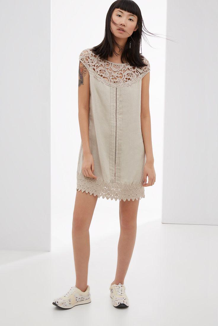 Vestido con detalles de crochet vestidos adolfo for Vestidos adolfo dominguez u