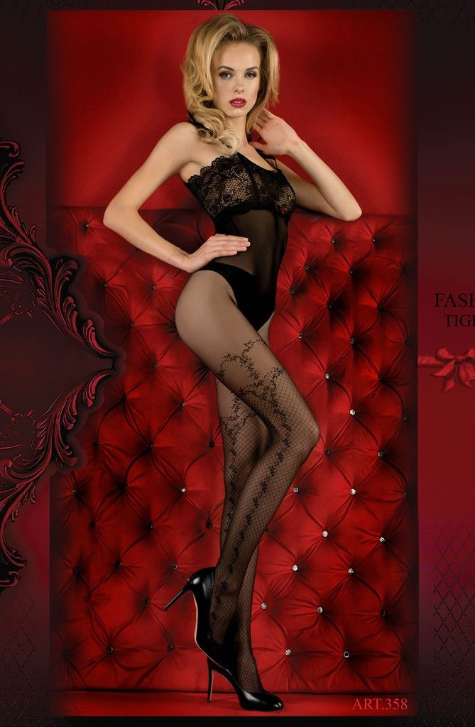 Boutique lingerie Collants noir motif resilles - Ballerina