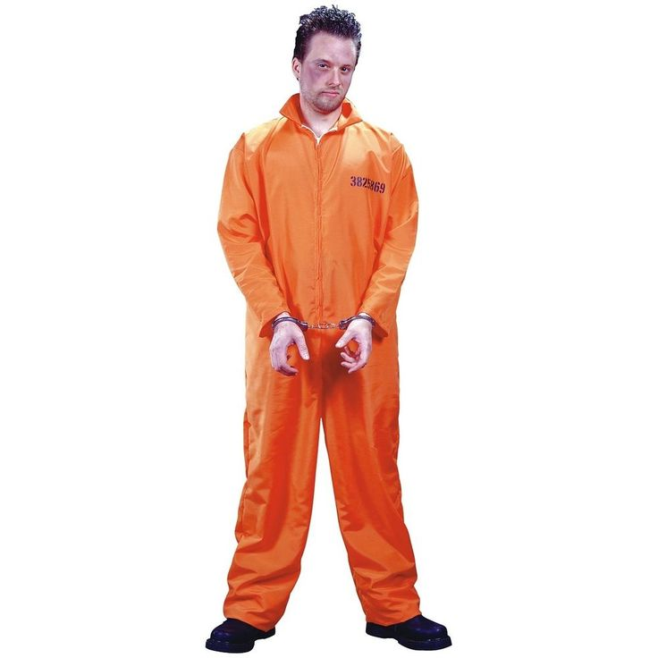 Perfect Adult39s Orange Prisoner Uniform  Orange Inmate Women39s Costume