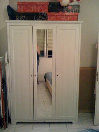 Se vende armario con 3 puertas blanco ikea segunda mano Armarios de segunda mano