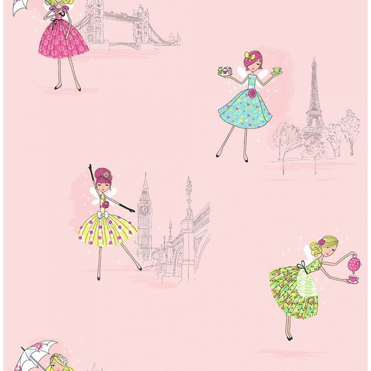 Vintage fairies, Wallpaper for sale and Pink wallpaper on