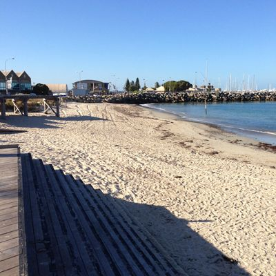 Bathers Beach facing south towards Fishing Boat Harbour, Fremantle, WA