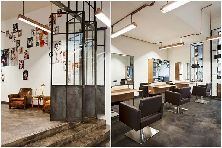 Les 25 meilleures id es concernant salon de coiffure d cor - Idee deco salon industriel ...