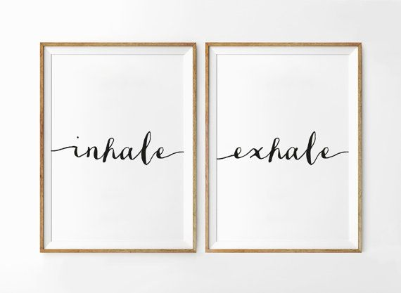 Inhale Exhale Print Set Of 2 Prints Relaxation by FabulousArtPrint