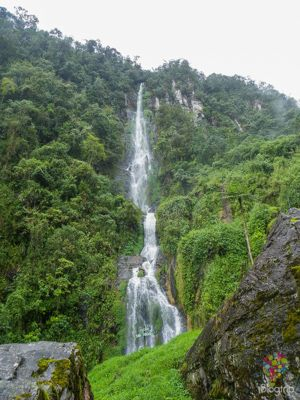 Cascada natural en las termales de Santa Rosa de Cabal https://blogtrip.org/termales-de-santa-rosa-de-cabal-eje-cafetero-colombia/