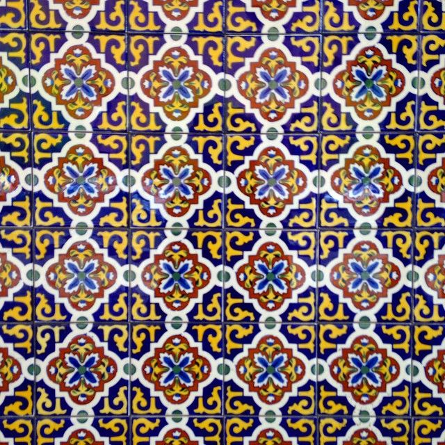 geometric patterned tile mosaic