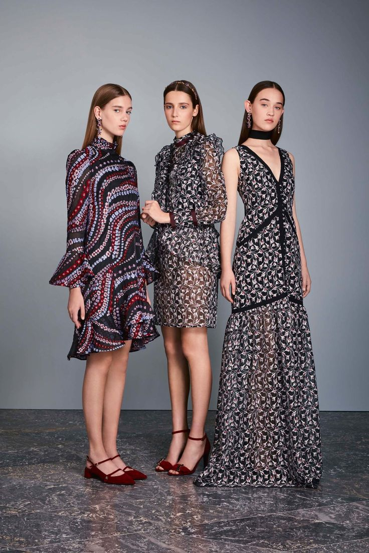 Erdem Resort 2017 Fashion Show---Pinned this for the dress in the middle. Love the shape~