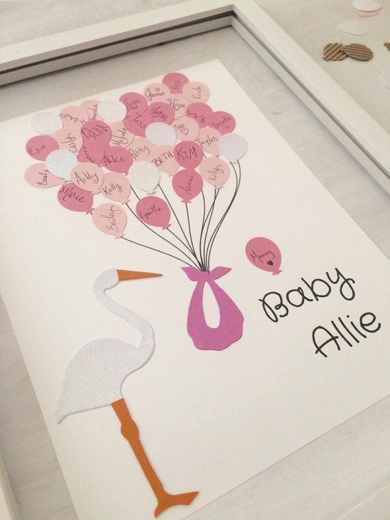 Hey, I found this really awesome Etsy listing at https://www.etsy.com/listing/232126468/baby-shower-guest-book-stork-baby-girl