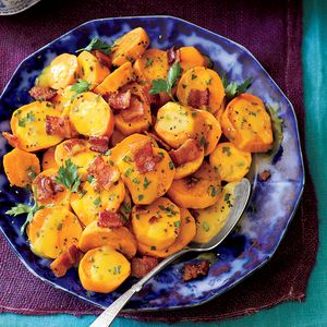Slow-Cooker Sweet Potatoes with BaconRecipe