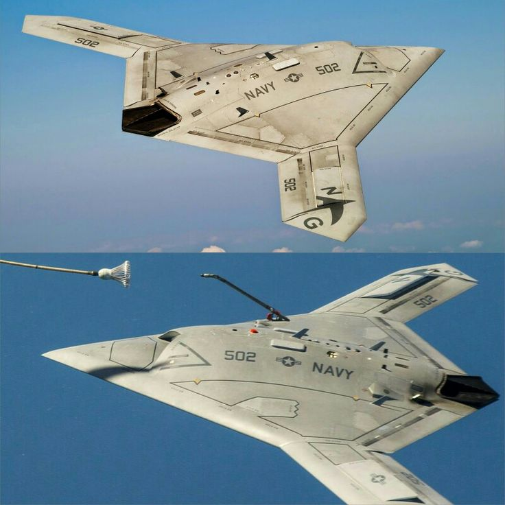X-47B  https://news.usni.org/2016/02/01/pentagon-to-navy-convert-uclass-program-into-unmanned-aerial-tanker-accelerate-f-35-development-buy-more-super-hornets