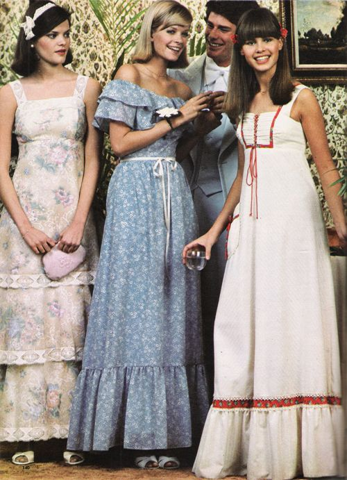 1970s+prom+ | ... and the charm of old-fashioned prints make perfect prom memories