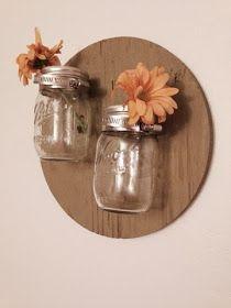 DIY wall decor mason jar